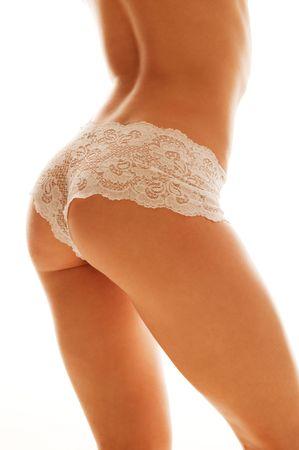 perfect feminine body isolated on white Stock Photo - 4339486
