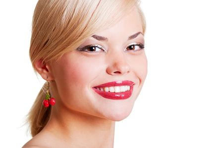 portrait of charming blonde with beautiful smile Stock Photo - 5075433