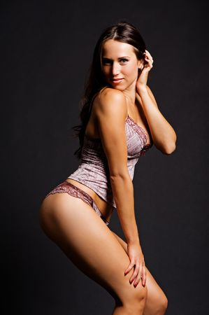 portrait of exquisite woman in lingerie Stock Photo - 5661799