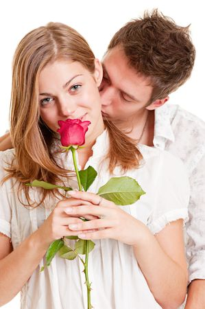 portrait of beautiful young couple photo
