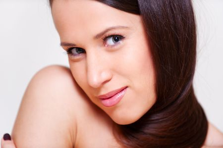 portrait of lovely woman with beautiful hair Stock Photo - 6352684