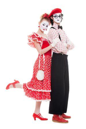 Retrato de mimos. hermosa pareja de enamorados. aislados en blanco  Foto de archivo - 6876829