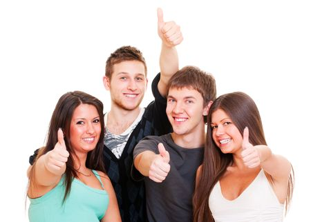 portrait of successful young people. isolated on white background Stock Photo - 6876833