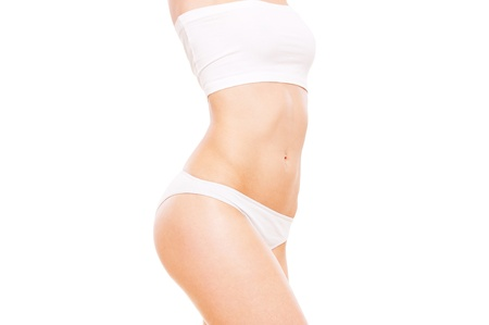 beautiful healthy woman's body in white underwear Stock Photo - 9486890