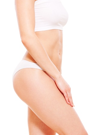sensitive skin: sideview portrait of lovely feminine body