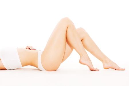 lovely feminine body over white background Stock Photo - 9615897