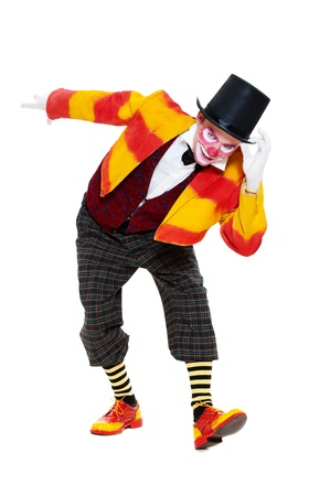 clown is greeting. isolated on white background Stock Photo - 10705814