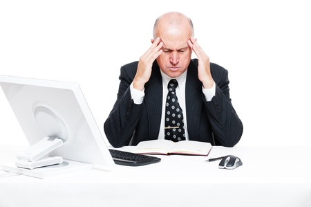 sad businessman have a headache Stock Photo - 11103055