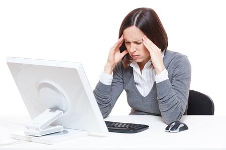 sad businesswoman have a headache Stock Photo - 11103084