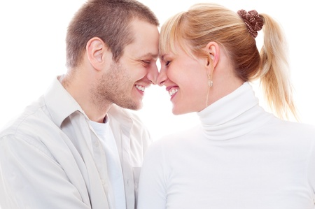portrait of joyful couple in love Stock Photo - 12428890