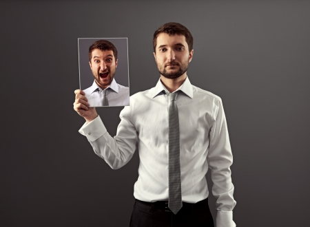 seus and calm businessman don't showing his indignation Stock Photo - 18635337