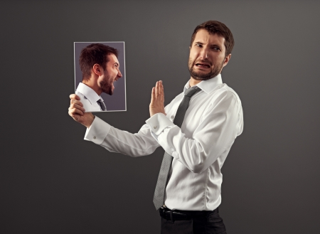young man have a discord with himself Stock Photo - 18767145
