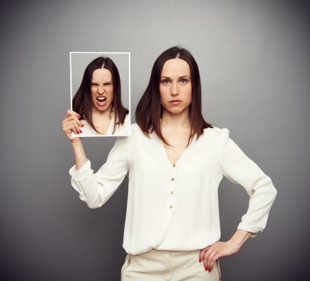 attractive serious woman angry inside Stock Photo - 19062801