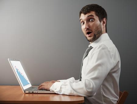 surprised businessman looking at camera photo