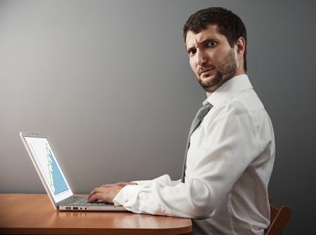 astonishment: hombre de negocios mirando a la c�mara con asombro Foto de archivo