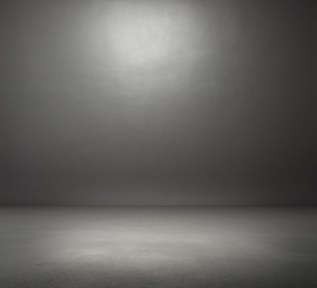 empty dark grey room
