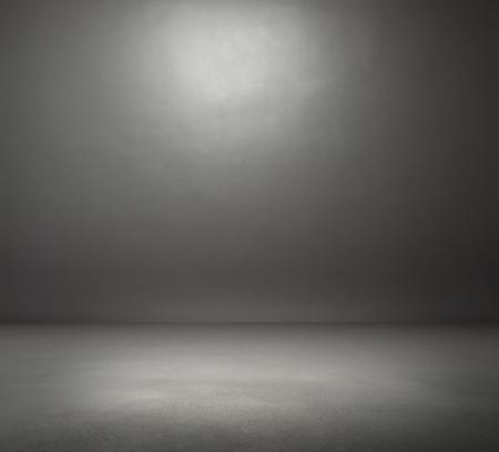 Vide sombre salle de gris Banque d'images - 22143283