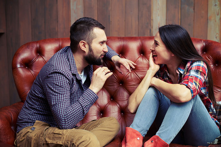 fascinating: fascinating conversation between a man and a woman