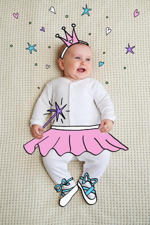 Baby dressed as princess