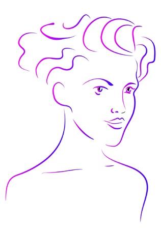 abstrakt: woman Illustration