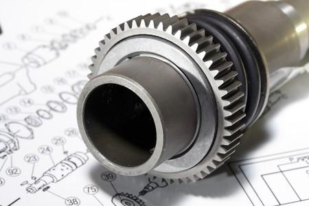 specifiche: Il metallo dettaglio - un rotore - si trova sul disegno