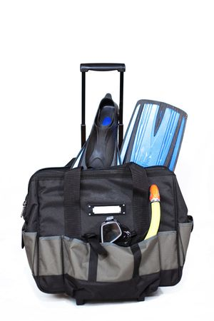 Travel case with set for subaqueous navigation