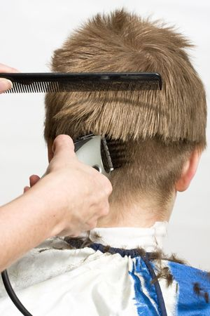 Hairstyle machine, kind in the rear Stock Photo - 4810260