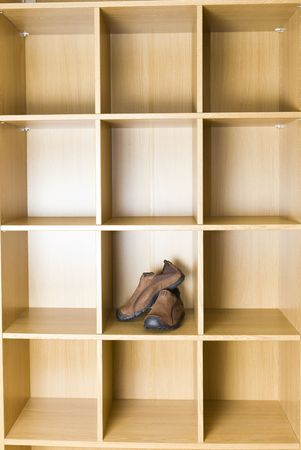 accurately: shoe  in wardrobe