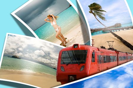 Travel to rest of your dream, On azure background Stock Photo - 5733325