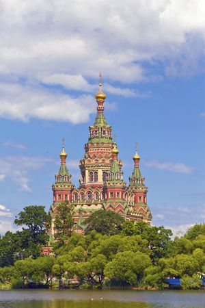 Russia, Peterhof and the Church of St. Peter and Paul Church Stock Photo - 6206822