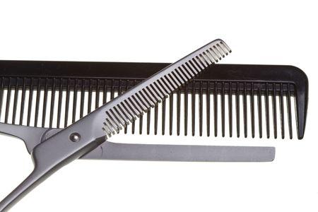 thinning: Scissors, Thinning shear Stock Photo