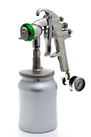New metal brilliant Spray gun Stock Photo