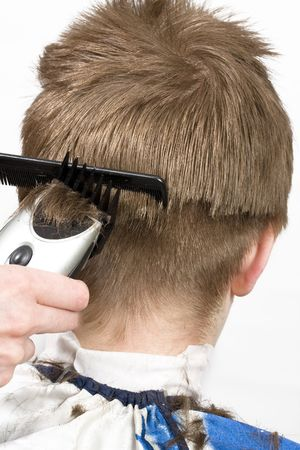 Hairstyle machine, kind in the rear Stock Photo - 6755466