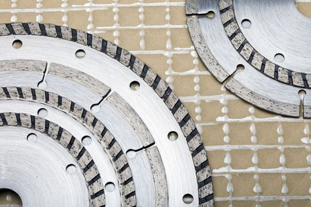Diamond discs for cutting of tile Stock Photo - 6769844