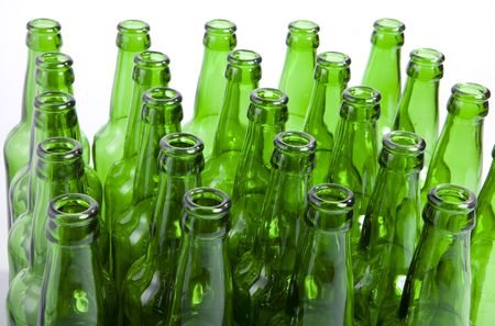 recycle glass: Empty glass bottles