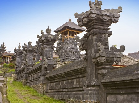 The biggest temple complex, mother of all temples . Bali,Indonesia. Besakih.   photo