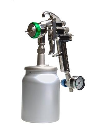 airbrushing: Nueva arma de spray brillante metal  Foto de archivo