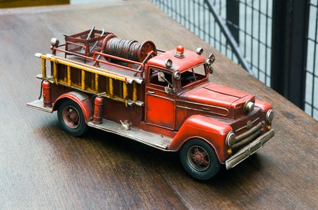 antique fire truck: Old toy- Fire Engine