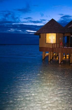 Night on maldives photo