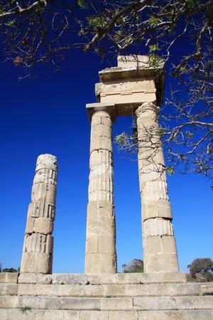 Ruinas del templo de Rodas, Acr�polis, Grecia,  Foto de archivo - 7607541