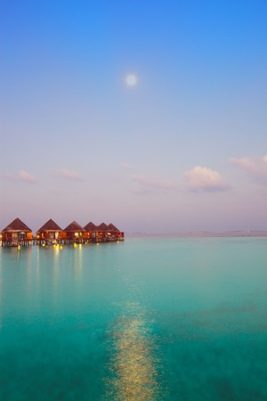 Night on maldives photo