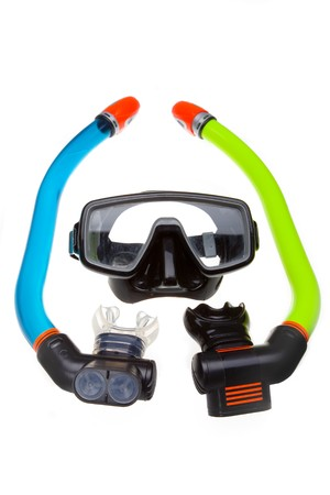 Tube for diving (snorkel) and mask Stock Photo - 7758785