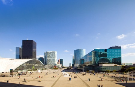 defense: France, paris-New Paris- la defense Stock Photo