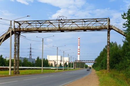 Kind on an atomic power station, Russia photo