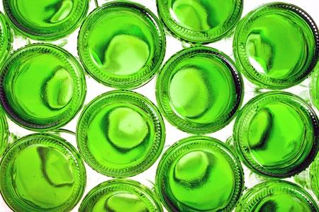 bottoms: Bottoms of empty glass bottles