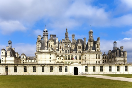 chambord: castle of a valley of the river Loire. France. Chambord castle (Chateau de Chambord) Stock Photo