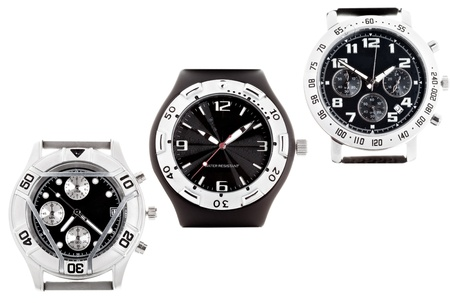Wrist watches with several dials Stock Photo