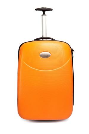 Orange suitcase for travel Stock Photo - 9072820