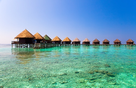 resorts: Maldives.  Villa on piles on water