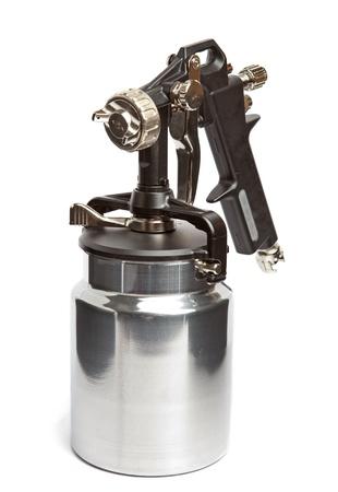 airbrushing: Nueva pistola metal brillante Foto de archivo
